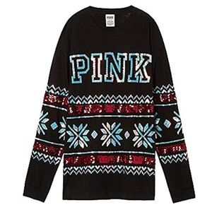 VS Pink bling sweater top